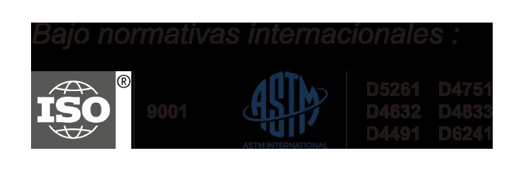 Normativas Internacionales ISO - ASTM - Aldeana Geotextiles